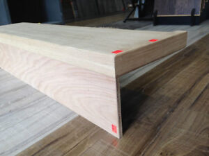 SOLID OAK STAIR TREADS ONLY $18.99 ~ RISERS ONLY $4.99