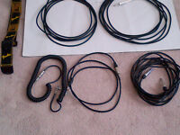 ASST. ELECTRIC AMPLIFIED INSTRUMENT GUITAR CORDS 1/4 PATCH CABLE