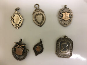 Vintage Sterling Silver Watch Fobs, 1800's-1900's