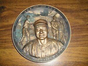 1994 BRADFORD EXCHANGE LOU GEHRIG LIMITED EDITION 3-D PLATE