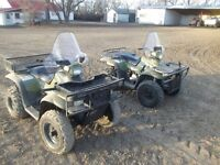 2 Polaris sportsman Quads