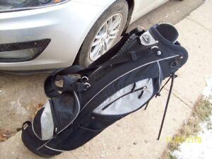 Golf bag  with driver, iron set+putter