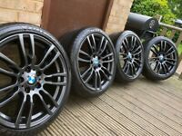 "Genuine BMW 3 4 Series 19"" 403 M Sport Alloy Wheels & Tyres F30 F31 F32 F33 F34 F36 E90 E92 Grey"