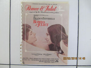 Paramount Pictures Romeo & Juliet Wedding Program Book Cir1968