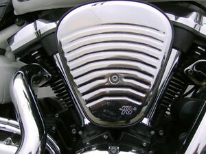 YAMAHA ROAD STAR K&N BALL-MILLED  AIR INTAKE
