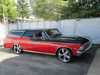 66 RARE CUSTOM CHEVELLE WAGON