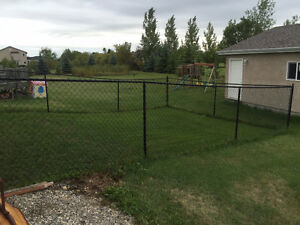 100'of 5ft black chain link fence with all posts, etc