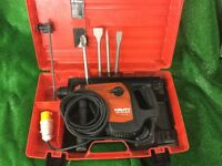 Hilti TE 40 AVR Combi Hammer Drill Breaker 110v Plus new chisels & Depth Gauge