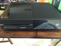 Xbox one console with connect plus 2 games