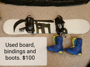 Snow board, binding and boots