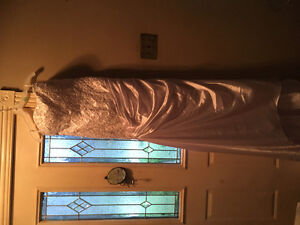Brand New White and Silver Strapless Gown!
