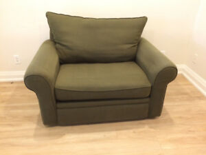 Small couch/loveseat/large lounge chair for sale