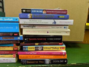Books! Teen fiction and random assortments.