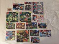 Large Lot of Lego Set Manuals