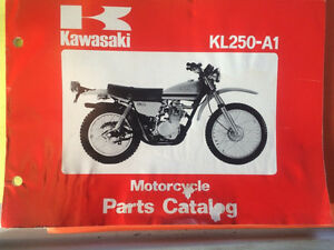 1978 Kawasaki KL250-A1 Motorcycle Parts Book