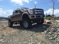 """2012 Ford F-350 King ranch 8"""" lift on 38"""" tires (beauty)"""