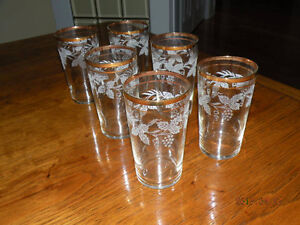 etched glasses with gold trim - 6
