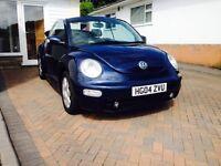 2004 54 Volkswagen 1.9 Beetle Cabriolet/Convertible, Diesel VW Metallic Blue