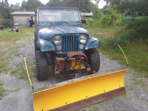 "84 Jeep CJ7,  With Meyers Plow,  Lifted, 33x12.5x15"" Tires"