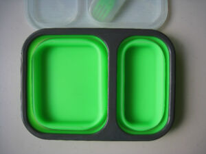Collapsible Silicone Lunch Set – Brand new