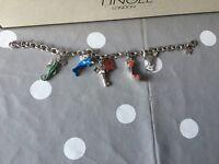 Tingle silver charm bracelet