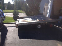 Tilt and load snowmobile trailer 6x8