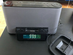 SONY RADIO Clock with Remote Control rmt-ccs10ip
