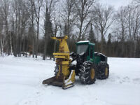 FELLER BUNCHER AND SKIDDER  *For hire, standing timber, forestry