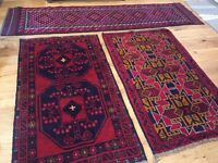 Assorted Hand Knotted 100% Wool Rugs - Persian / Afghan Style