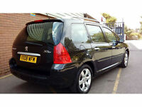 Peugeot 307 SW 1.6HDi S**RARE 7 SEATER ESTATE**1 PREV OWNER**FSH**62MPG**