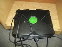 Xbox with 3 controllers and 17 games