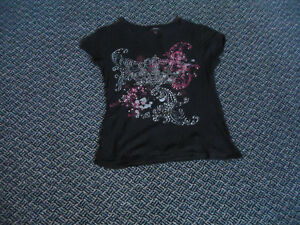 Ladies Size M/M Short Sleeve Black T-Shirt by Candy Couture Kingston Kingston Area image 1