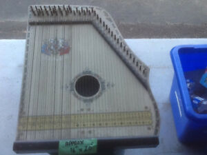 Antique Piano Harp