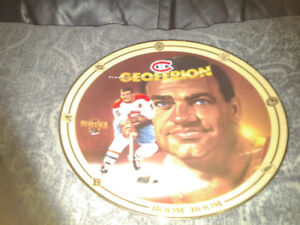 Geoffrion (Montreal Canadians) Collectors Plate w/COA