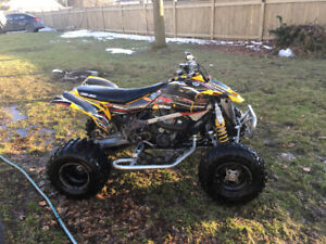 2008 can am ds 450 trade for street bike or $4000