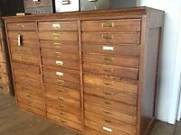 Haberdashery cabinet / collectors drawers