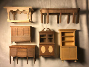 Handcrafted Dollhouse Furniture using Exotic Wood (12 pieces)