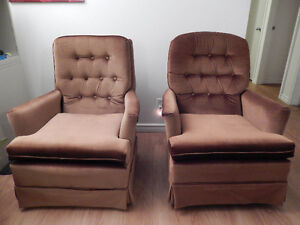 2 Swivel/Rocking Chairs FOR SALE