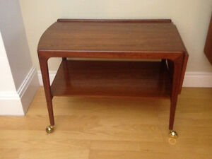 ****Price Reduced***  Mid Century Teak Service Cart