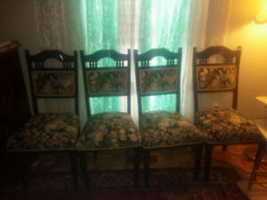 FOUR VINTAGE ANTIQUE CHAIRS