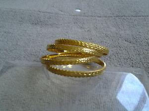 Faux Gold Bangles