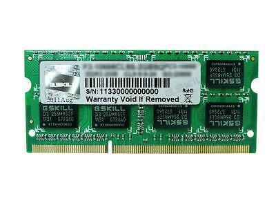 8GB G.Skill DDR3 PC3-10666 CL9 SQ Series 1333MHz single laptop memory module ()