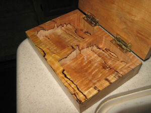 Wood Carved Keepsake Playing Card Box Strathcona County Edmonton Area image 3