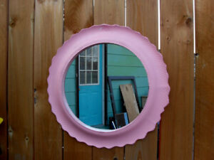 Pink Eco Art Recycled Tire Outdoor Mirror