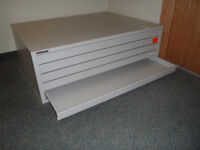 Storage File Cabinet, Metal for large plans and or maps