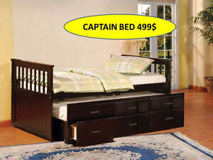 SOLID WOOD TRUNDLE BED FOR 499$ ONLY..HURRY UP