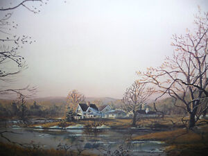"Peter Robson ""Prelude To Spring"" Signed and Numbered Print Stratford Kitchener Area image 4"