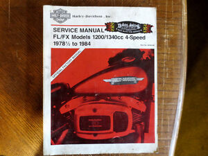 Service Manual FL/FX 1200/1340 cc 1978/1994 4 speed $60.00 cad