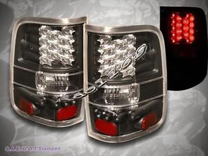 2004 2008 ford f150 styleside black led g2 tail lights xl. Black Bedroom Furniture Sets. Home Design Ideas