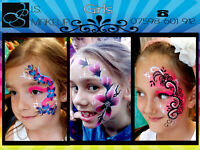 Professional Face Painter in Birmingham - Body Art / Face Painting for Birthdays Valentines Party